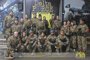 Melbourne Storm Playing At Delta Force Paintball Dingley Melbourne