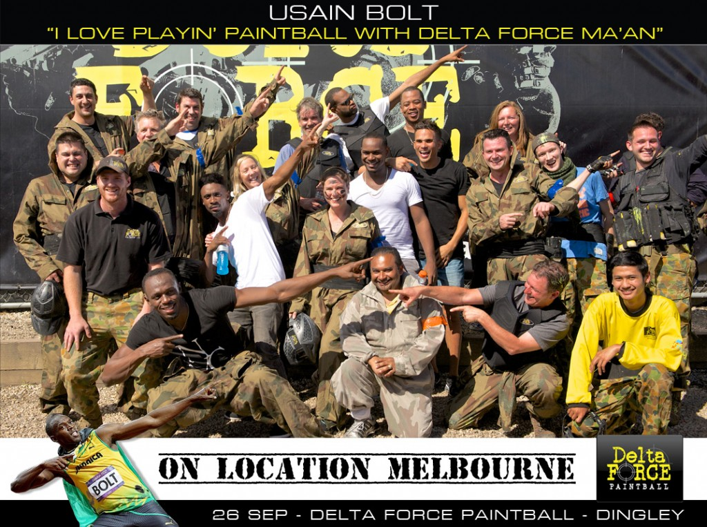 Usain Bolt & John Steffensen Delta Force Paintball Dingley